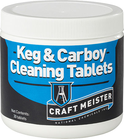 Craft Meister Keg and Carboy Cleaning Tablets - 3 ct