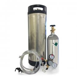 Ball Lock Kegging System w/Used Keg - Empty CO2 Tank