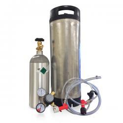 Pin Lock Kegging System w/Used Keg - Empty CO2 Tank