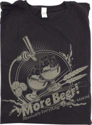 T-Shirt - Black MoreBeer! Draft Faucet - M