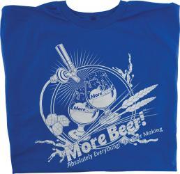 T-Shirt - Blue MoreBeer! Draft Faucet - L