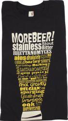 T-Shirt - Black MoreBeer! Beer Terminology Glass - L