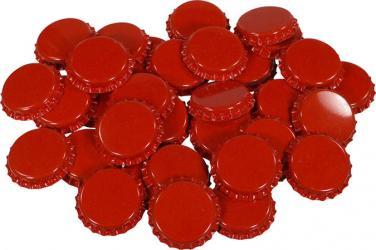 Red Bottle Caps (50)
