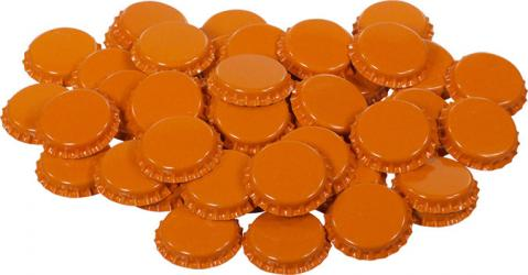 Orange Bottle Caps (50)
