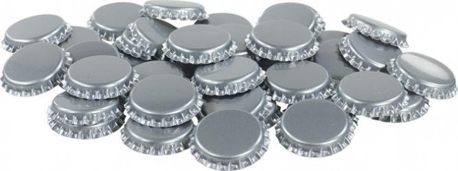 Silver Bottle Caps (50)
