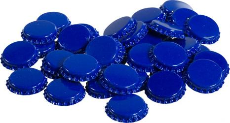 Blue Bottle Caps (50)