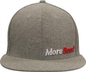 Small/Medium Grey Flat Bill MoreBeer! Hat