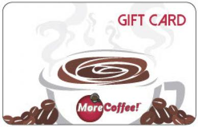 MoreCoffee! Mailed Gift Card