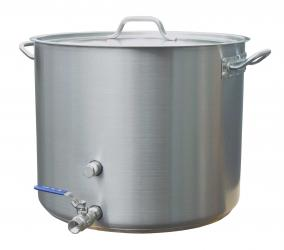 15 Gallon Stainless Brew Kettle With Notched Lid