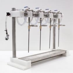 Micro Filling Systems 4 Head Counter Pressure Filler
