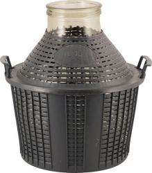 Glass Demijohn - 4 G (15 L) - Wide Mouth With Plastic Basket