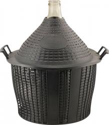 Glass Demijohn - 9 G (34 L) - Narrow Mouth With Plastic Basket