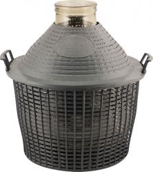 Glass Demijohn - 9 G (34 L) - Wide Mouth With Plastic Basket