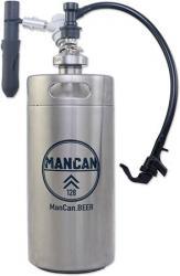 ManCan SS Mini-Keg Growler Serving System - 128 Flex