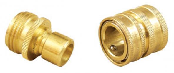 Brass Quick Disconnect Set