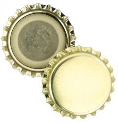 Gold Bottle Caps (50)