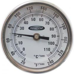 Fermentap Bi-Metal Dial Thermometer (3 in Face x 6 in Probe)