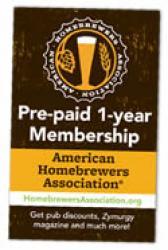 American Homebrewers Association - 1 Year Membership