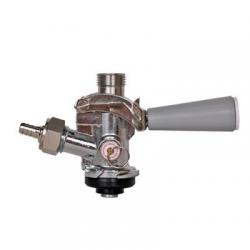 """American """"D"""" Keg Tap (Coupler - Sanke) with SS Probe - Grey Lever"""
