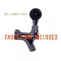 Faucet Handle - Round Black